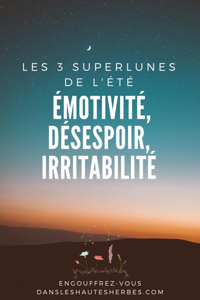 superflue émotivité irritabilité